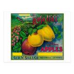 Cajón color de rosa LabelWatsonville, CA de Apple  Postal