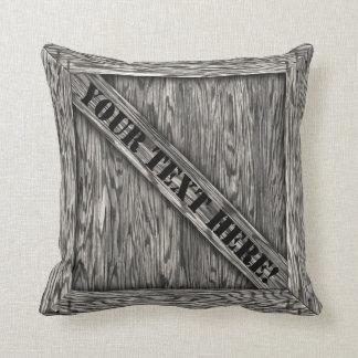 Cajón de la abrazo - Driftwood - con el texto Cojines
