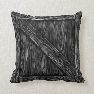Cajón de la abrazo - madera negra almohadas