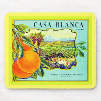 Cajón de la fruta del vintage del ~ de los naranja alfombrillas de ratones