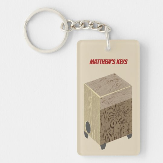Cajon Drum Personalized Keychain