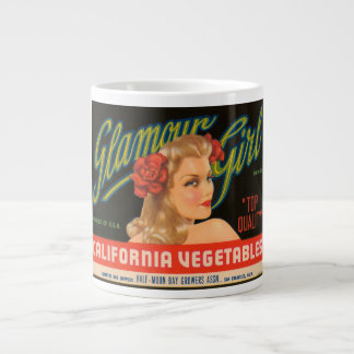 Cajón L del vintage de las verduras de California  Taza De Café Gigante