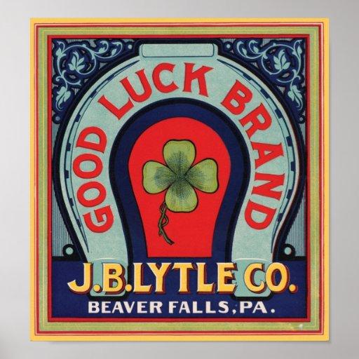 Cajón Labe de J. Bl Lytle Co. de la marca de la bu Póster