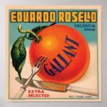 Cajón Labe del vintage de Eduardo Rosello Valencia Póster
