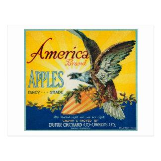 Cajón LabelDufur de América Apple O Postal