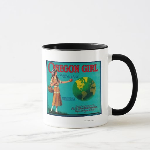 Cajón LabelElgin de Apple del chica de Oregon, O