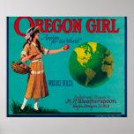 Cajón LabelElgin de Apple del chica de Oregon, O Impresiones
