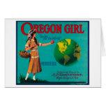 Cajón LabelElgin de Apple del chica de Oregon, O Tarjeta De Felicitación