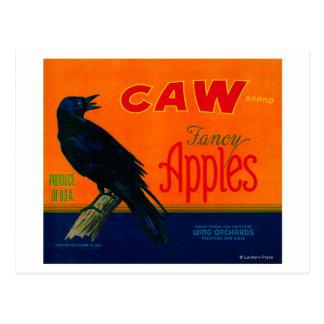 Cajón LabelMedford de Apple del Caw O Postales