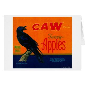 Cajón LabelMedford de Apple del Caw O Tarjeton