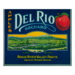 Cajón LabelMedford de Del Río Apple, O Póster