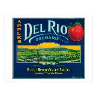 Cajón LabelMedford de Del Río Apple, O Tarjetas Postales
