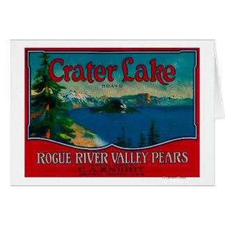 Cajón LabelMedford de la pera del lago crater O Felicitaciones