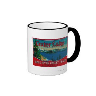 Cajón LabelMedford de la pera del lago crater, O Taza De Dos Colores