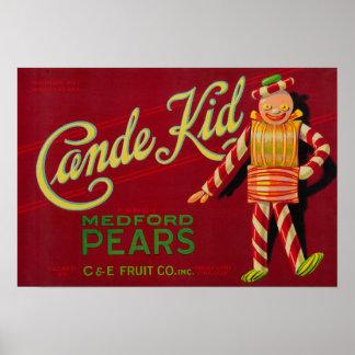 Cajón LabelMedford de la pera del niño de Cande, O Impresiones