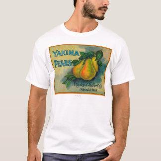 Cajón LabelToppenish, WA de las peras de Yakima Playera