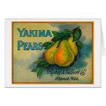Cajón LabelToppenish, WA de las peras de Yakima Tarjeta De Felicitación