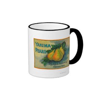 Cajón LabelToppenish, WA de las peras de Yakima Taza De Dos Colores