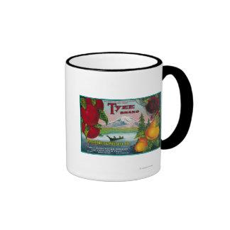 Cajón LabelWA de la pera de Tyee, O, y CA Taza De Dos Colores