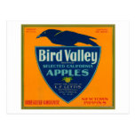 Cajón LabelWatsonville, CA de Apple del valle del Tarjetas Postales