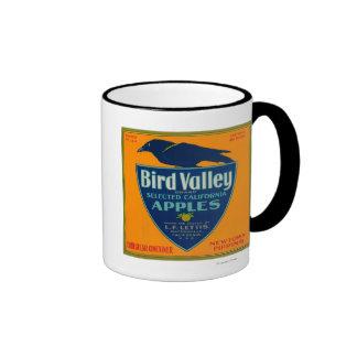 Cajón LabelWatsonville, CA de Apple del valle del Taza De Dos Colores
