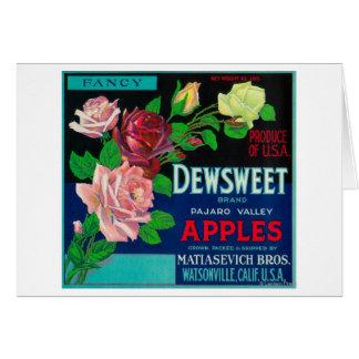 Cajón LabelWatsonville CA de Dewsweet Apple Tarjetas
