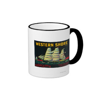 Cajón occidental LabelHood, CA de la pera de la Taza De Dos Colores