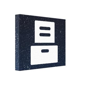 Cajones de los muebles mínimos lienzo envuelto para galerías