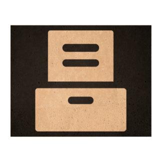 Cajones de los muebles mínimos papel de corcho