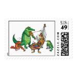 Cajun Band Postage Stamp
