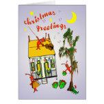 Cajun Bayou House Christmas Greeting Card
