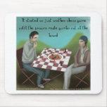 Cajun Chess Funny Cartoon Mouse Pad
