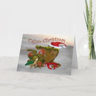 Cajun christmas cards zazzle cajun christmas santa gator greeting cards m4hsunfo