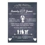 Cajun Cookin Bridal Shower Chalkboard Design 5x7 Paper Invitation Card
