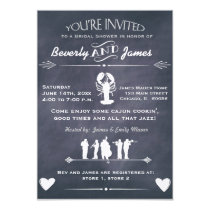 Cajun Cookin Bridal Shower Chalkboard Design Invitation