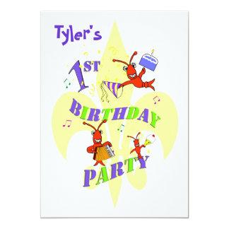 Cajun Crawfish 1st Birthday Party Invitation