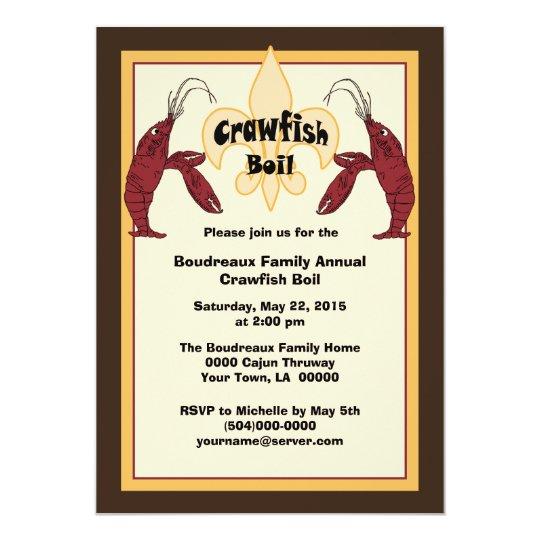 Cajun Crawfish Boil Invitations Zazzle Com