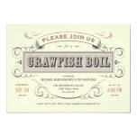 "Cajun Crawfish Boil Party Invitations 5"" X 7"" Invitation Card"