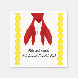 Cajun Crawfish Boil Party Napkins