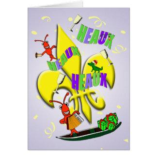 Cajun Crawfish Christmas Card