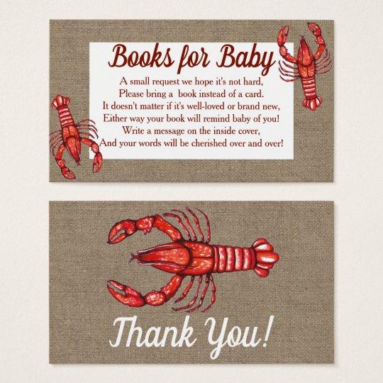 Cajun Crawfish Faux Burlap Baby Shower Books Zazzlecom