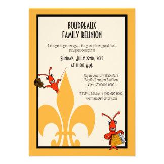 Cajun Crawfish Fleur de Lis Family Reunion Invitation