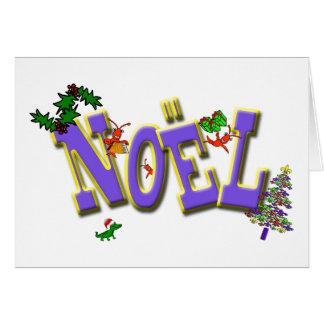 Cajun Crawfish Fleur de Lis Noel Christmas Card