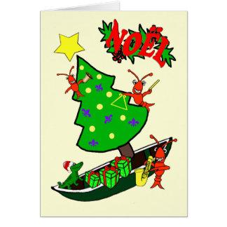 Cajun Crawfish Noel Christmas Card