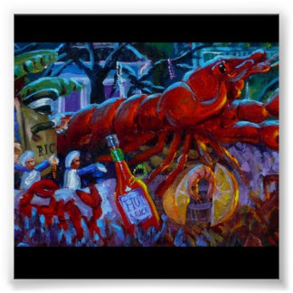 CAJUN CRAWFISH POSTER