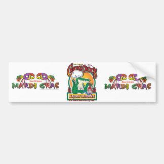 Cajun Creole Mardi Gras Crocodile Bumper Sticker