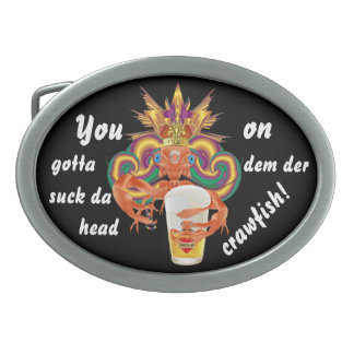 Cajun Customize Edit Change Text &Background Color Oval Belt Buckle