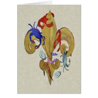 Cajun Fleur de lis Greeting Card