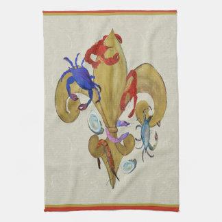 Cajun Fleur de lis kitchen towels from art