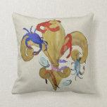 Cajun Fleur de lis throw pillow from art